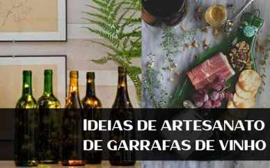 Ideias de artesanato de garrafas de vinho