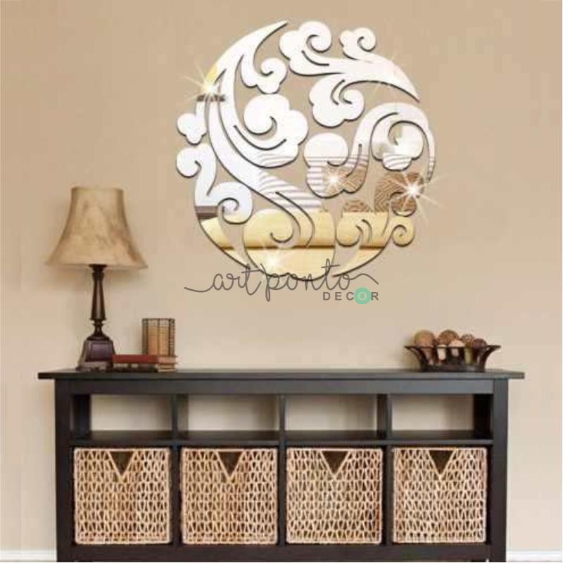 717dc19d5 Espelho Mandala em Acrílico Decorativo Redondo - Art Ponto Decor