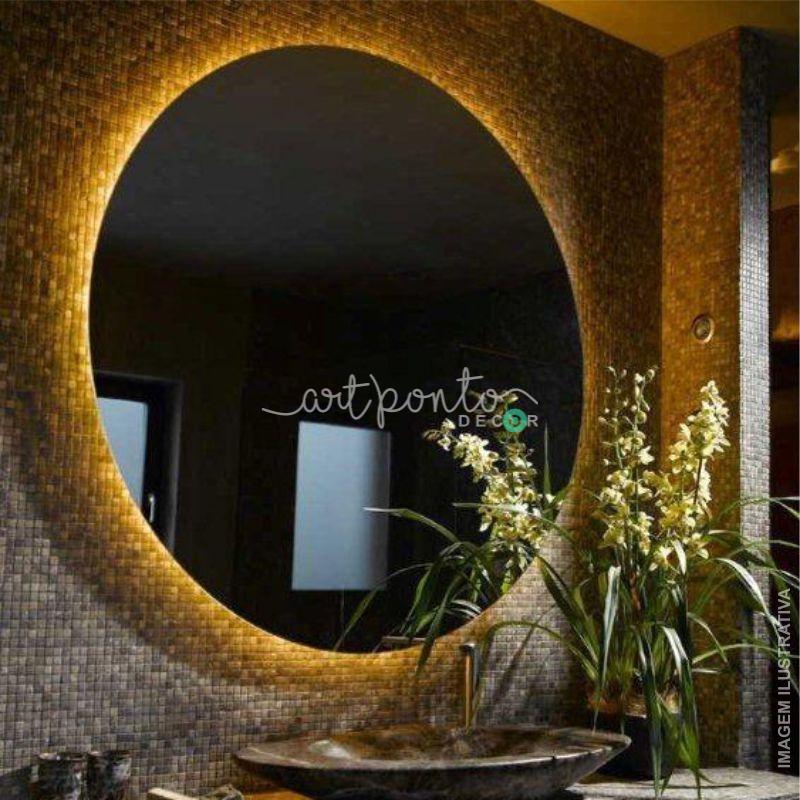 Espelho Redondo Acrílico com iluminação