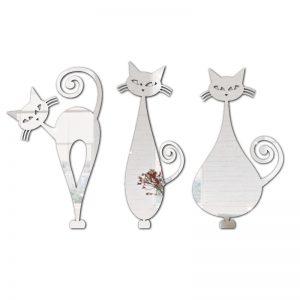 Três Gatos Espelhados