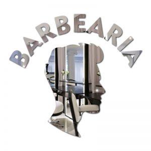 Espelho Barbearia Decorativo