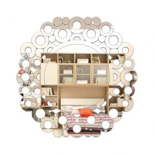 Espelho Redondo com Círculos