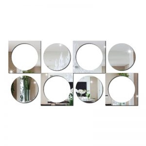 Espelho Circulo e Quadrado