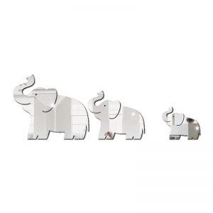Trio de Elefante Espelhado