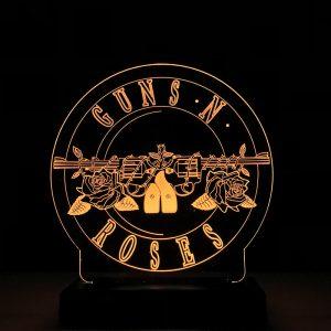 Abajur Guns n Roses