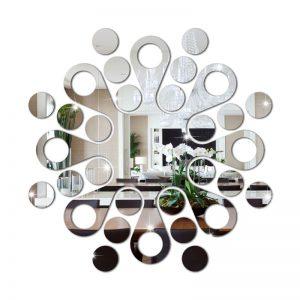 Espelho Decorativo Abstrato Circular