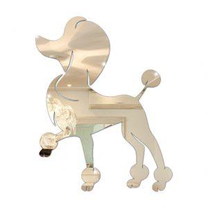 Poodle Espelhado Decorativo