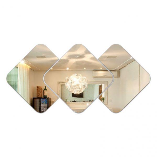 Espelho Decorativo Quadrado 3 peças