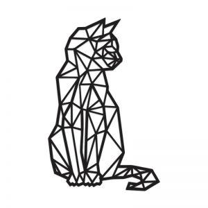 Gato Geométrico Em Acrílico