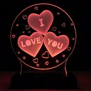 Abajur Luminária I Love