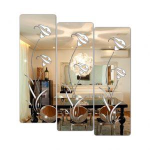 Espelho Decorativo Em Acrílico Flores