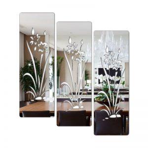 Espelho Decorativo Florais Em Acrílico