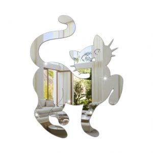 Espelho Decorativo Em Acrílico Gato