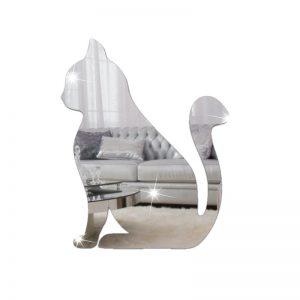 Espelho Decorativo Gato Sentado