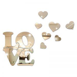 Espelho Decorativo Em Acrílico Love