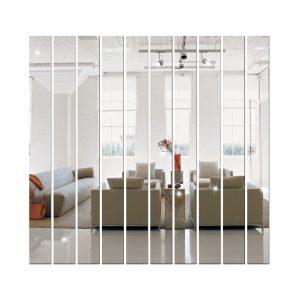 Espelho Decorativo Retângulo Listras