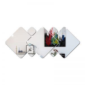 Kit Espelho Acrílico Decorativo