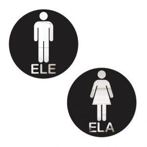 Placa Indicativa De Sinalização Banheiro
